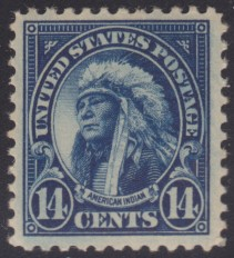 14-cent American Indian stamp