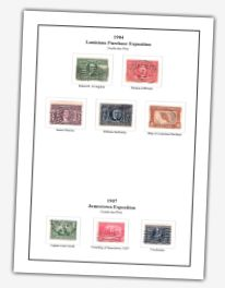Stamps on stamp album page