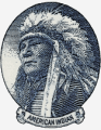 Engraving depicting Native American chief
