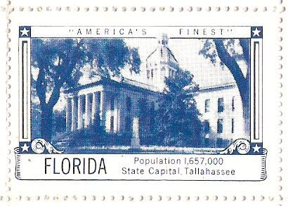 House of Seagram poster stamp honoring Florida