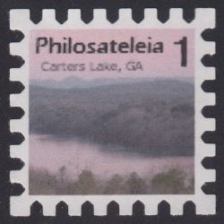 Local post stamp picturing Carters Lake