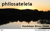Guadalupe River local post stamp