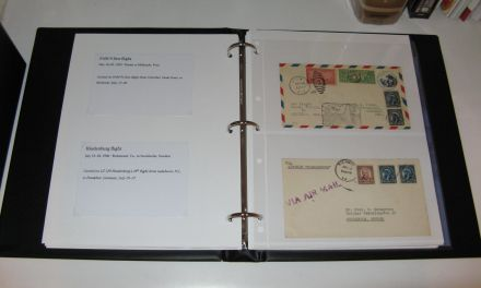 Stock pages and inserts inside open G&K Prince binder