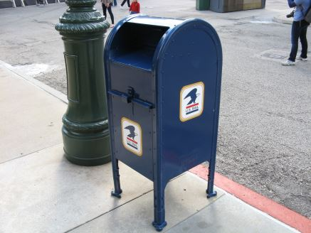 Blue mailbox at Disney World's Hollywood Studios