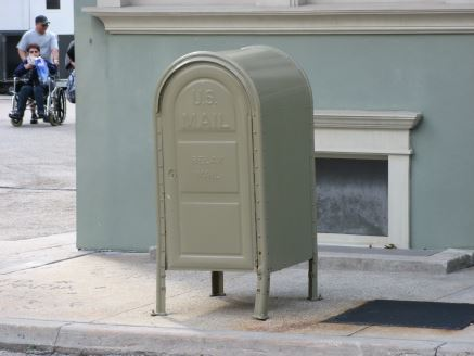 Olive mailbox at Disney World's Hollywood Studios