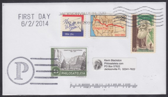 Philosateleian Post Yosemite Grant first day cover