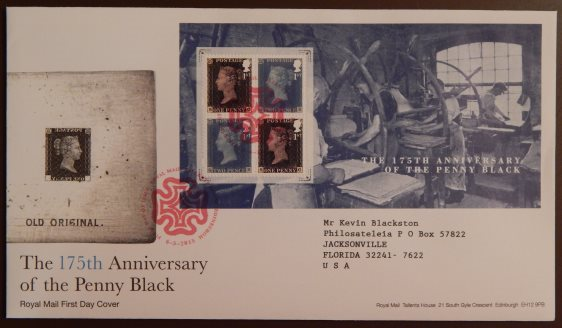 Penny Black anniversary first day cover