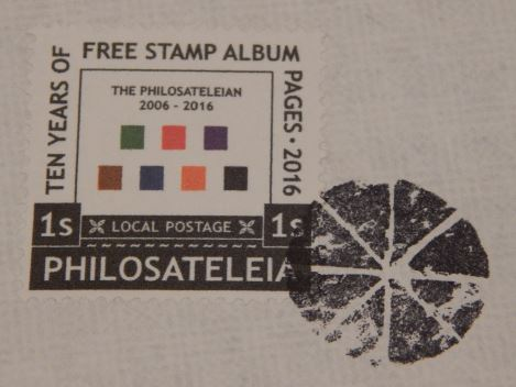 Philosateleian Post stamp with cork cancel