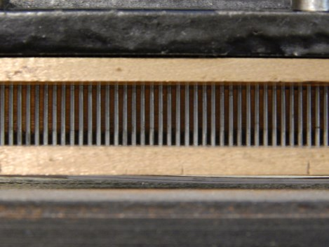 Picture of new Rosback pins in perforator