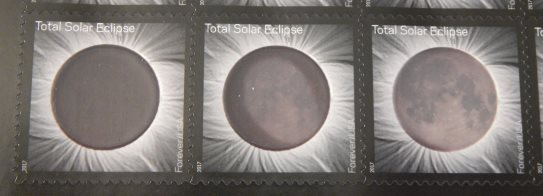 United States stamps picturing total solar eclipse