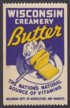 Wisconsin Creamery Butter poster stamp
