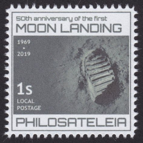Philosateleian Post First Moon Landing stamp