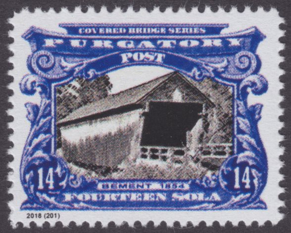 Purgatory Post 14-sola Bement Bridge stamp