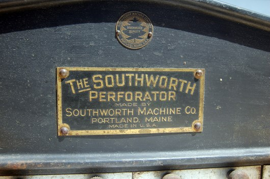 Southworth perforator closeup