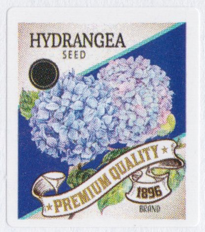 Boys Town cinderella stamp picturing hydrangea seed packet