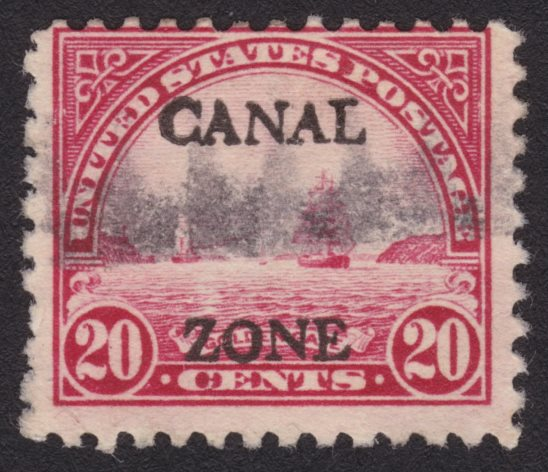 20¢ Golden Gate stamp with fake Canal Zone overprint