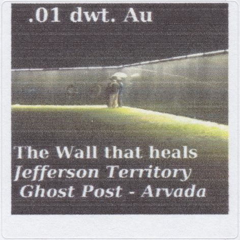 .01-dwt Au Jefferson Territory Ghost Post stamp picturing replica of Vietnam Wall