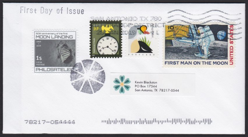 Philosateleian Post First Moon Landing first day cover
