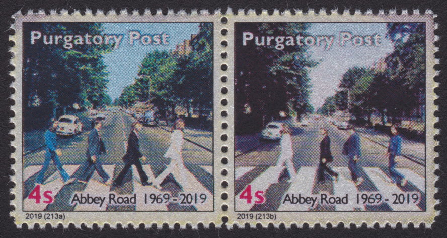 Purgatory Post 4-sola stamps picturing The Beatles