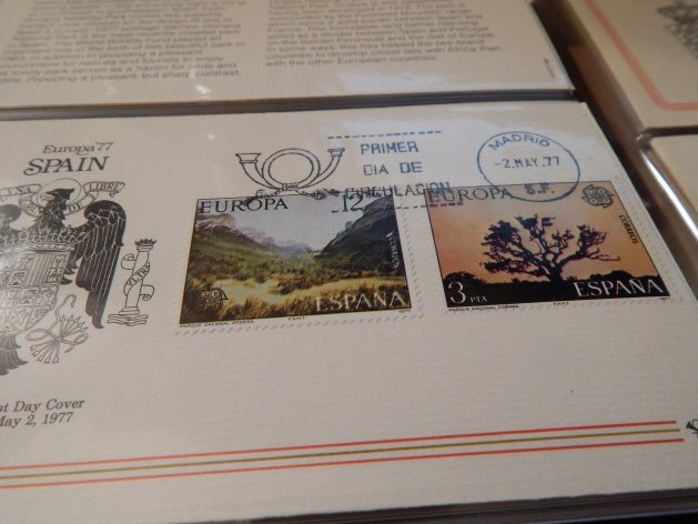 1977 Spain Europa stamps on first day cover