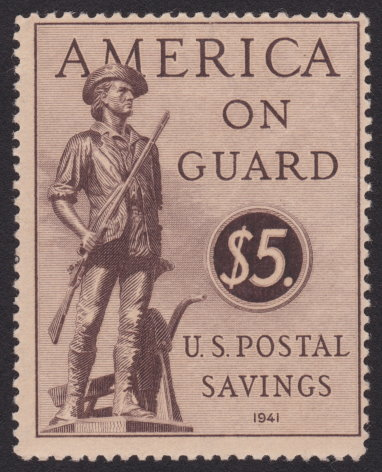 United States $5 Minute Man postal savings stamp
