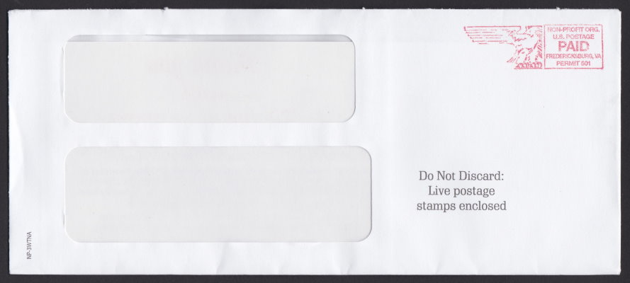 National Police Association cover with postage paid imprint