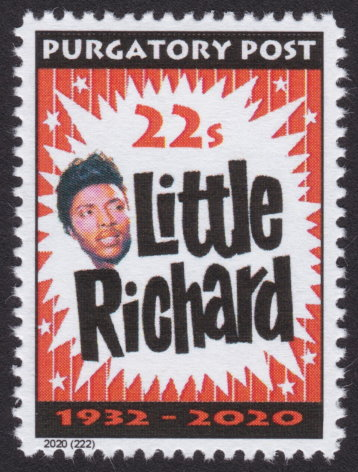 Purgatory Post 22-sola stamp picturing Little Richard