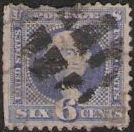 Blue 6-cent U.S. postage stamp picturing George Washington