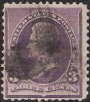 Purple 3-cent U.S. postage stamp picturing Andrew Jackson