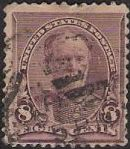 Lilac 8-cent U.S. postage stamp picturing William T. Sherman
