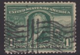 Green 1-cent U.S. postage stamp picturing Robert R. Livingston