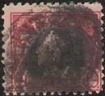 Red & black $2 U.S. postage stamp picturing Benjamin Franklin