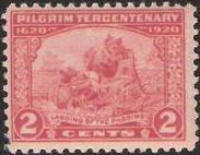 Red 2-cent Landing of the Pilgrims