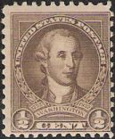 Brown 1/2-cent U.S. postage stamp picturing George Washington