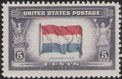 5-cent U.S. postage stamp picturing Dutch flag