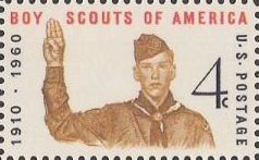 4-cent U.S. postage stamp picturing Boy Scout