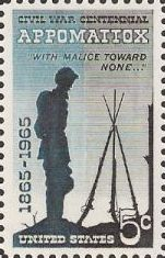 5-cent U.S. postage stamp picturing soldier and firearms