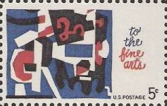 5-cent U.S. postage stamp picturing abstract art