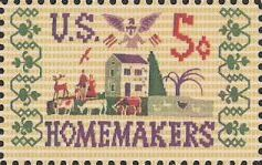 5-cent U.S. postage stamp picturing needlepoint