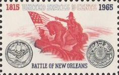 5-cent U.S. postage stamp picturing Andrew Jackson on horse