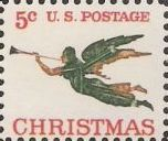 5-cent U.S. postage stamp picturing angel weather vane