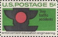 5-cent U.S. postage stamp picturing traffic signal
