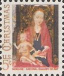 5-cent U.S. postage stamp picturing Memling's Madonna and child painting