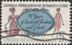 5-cent U.S. postage stamp picturing women