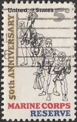 5-cent U.S. postage stamp picturing soldiers