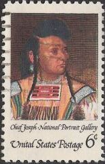 6-cent U.S. postage stamp picturing Chief Joseph