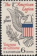6-cent U.S. postage stamp picturing eagle grasping branch