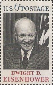 6-cent U.S. postage stamp picturing Dwight D. Eisenhower