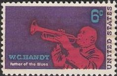 6-cent U.S. postage stamp picturing W.C. Handy
