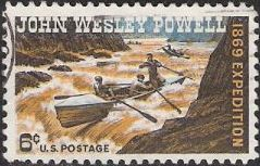 6-cent U.S. postage stamp picturing John Wesley Powell and party